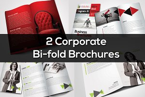2 Corporate Bi Fold Brochure Bundle