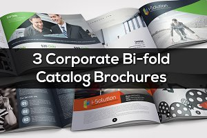 3 Corporate Bi Fold Brochure Bundle
