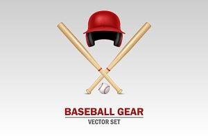 Baseball gear.