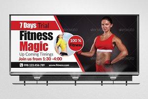 Body Fitness Billboard Template