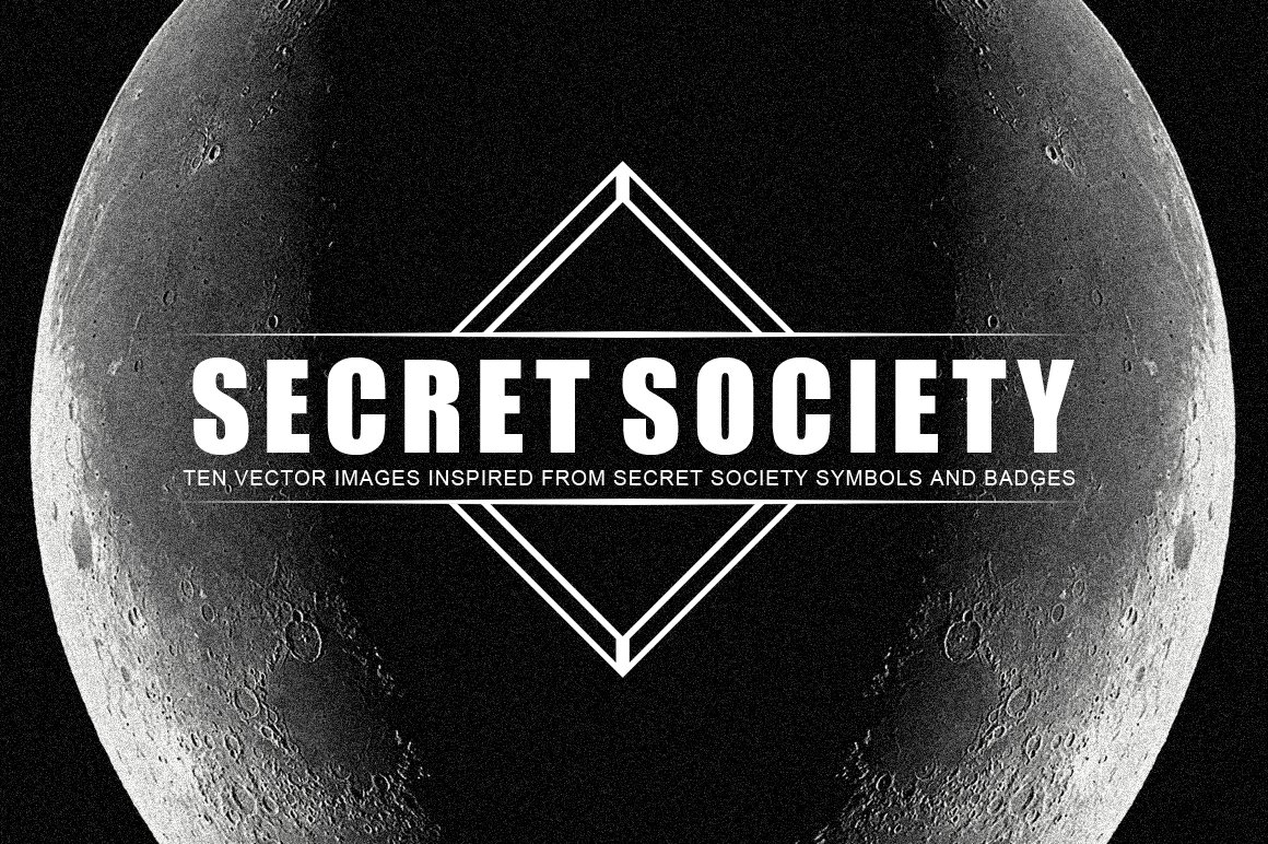 Secret Society Badges Graphic Objects Creative Market