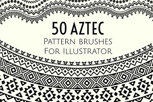 50 Aztec pattern brushes
