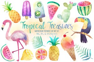 Tropical Treasures Watercolor Bundle
