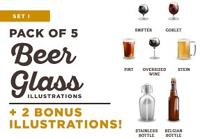 Beer / Brewery Illustrations Set I