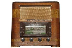 Vintage Wooden Box Radio