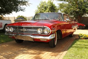Red 1960 Chevrolet Impala Bubble Top