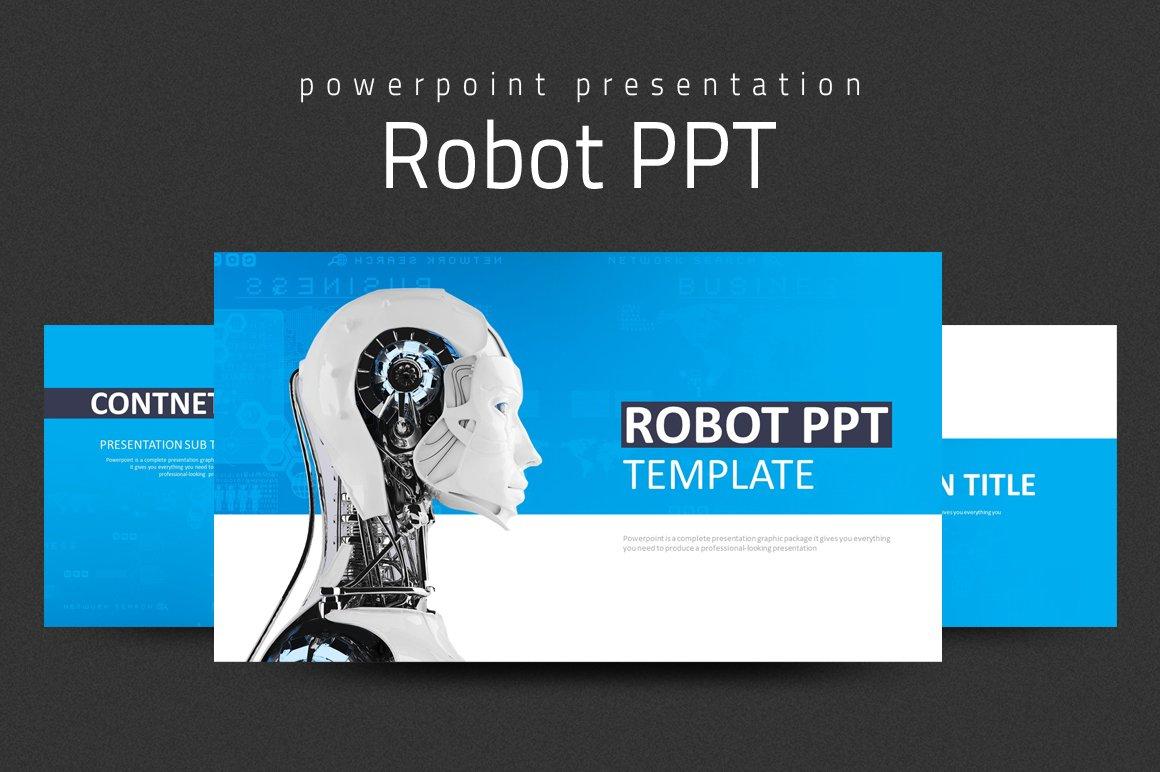 Robot ppt presentation templates creative market toneelgroepblik Gallery