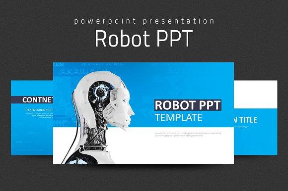 Robot ppt presentation templates creative market robot ppt presentations toneelgroepblik Gallery