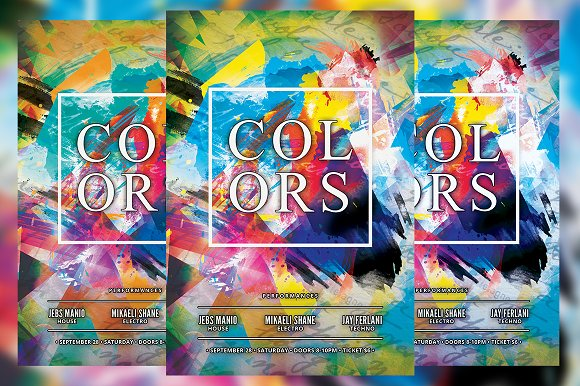 Colors Flyer in Flyer Templates