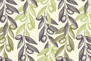 Vector Olive Patterns Set