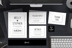 Minimalist Wedding Invitation Set