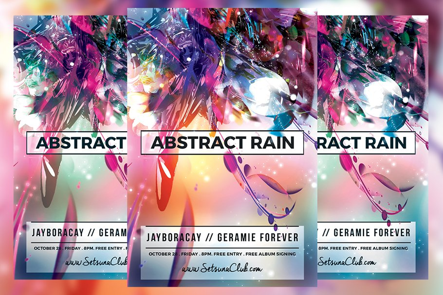 Abstract Rain Flyer in Flyer Templates