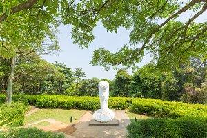 Merlion statue in park