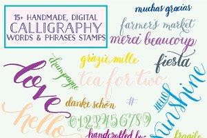 Handmade Calligraphy Overlays