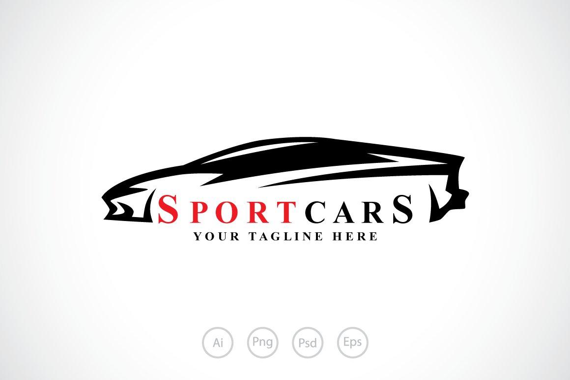 sport cars logo template logo templates creative market. Black Bedroom Furniture Sets. Home Design Ideas