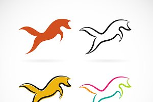 Vector group of fox design