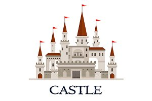 Gothic castle fortress icon