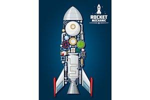 Rocket mechanics  scheme