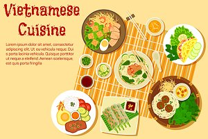 Vietnamese cuisine dishes menu