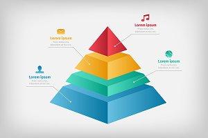 Pyramid cone info chart graphic