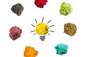 Lightbulb representing a good idea