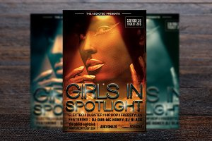 Girls Spotlight Party Flyer