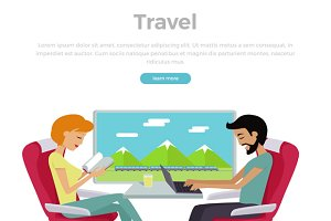 Train Travel Concept Web Banner