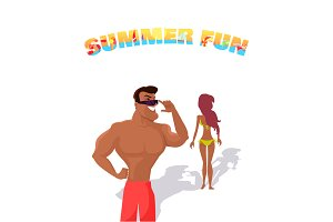 Summer fun concept illustration