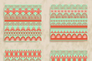 8 Vector Tribal Patterns