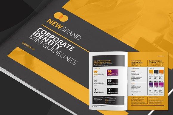 Mini Logo Guidelines Brochure Templates Creative Market - Mini brochure template