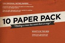 10 Retro paper pack