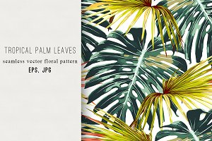 Tropical jungle leaves pattern