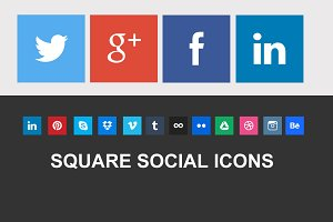 Nice Square Social Icons