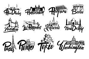 Capitals lettering
