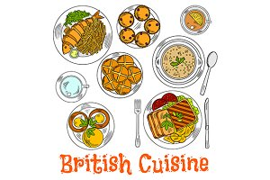 British cuisine dishes