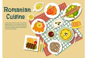 Menu dishes of romanian cuisine
