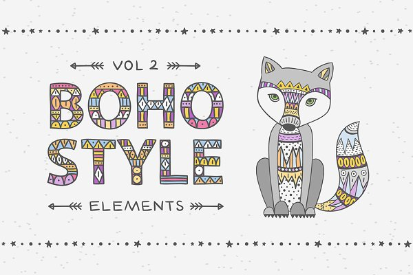 Boho style elements_vol 2