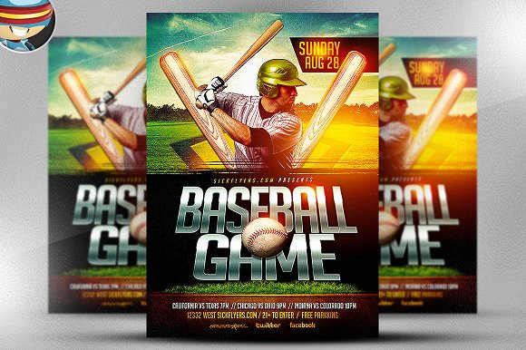 Baseball Flyer Template Flyer Templates on Creative Market – Baseball Flyer