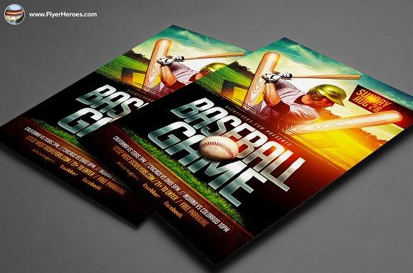 Baseball Flyer Template Flyer Templates on Creative Market – Baseball Flyer