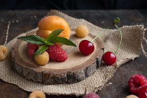 Tasty berries and fruit