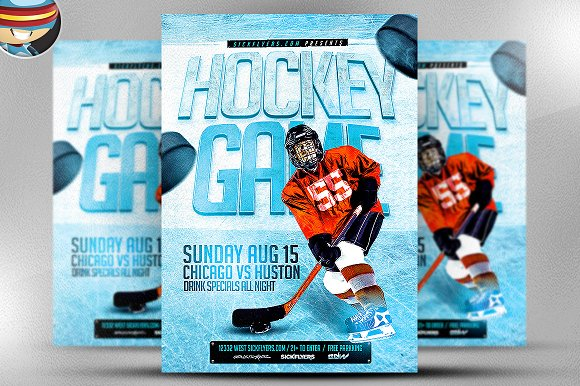 Ice Hockey Flyer Template Flyer Templates on Creative Market – Template for a Flyer