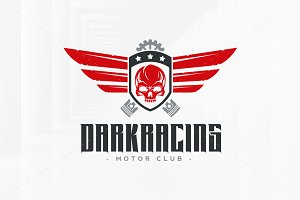 Dark Racing Logo Template