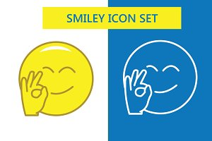 Exclusive Smiley icons - line & fill