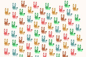 Colors Rabbits pattern