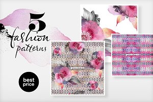 5 Fashion patterns (image set)