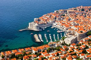 Old Town Of Dubrovnik From Above
