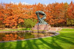 Autumn Lazienki Park in Warsaw