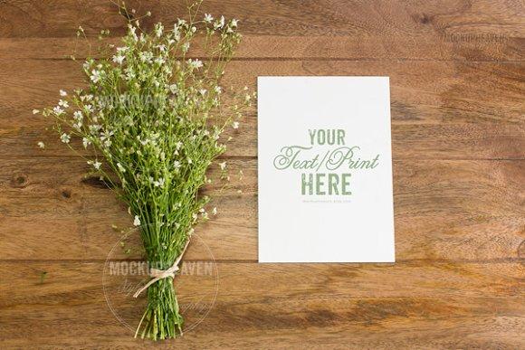 5x7 Wedding Invitation Card Mockup