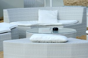 Luxury beach furniture