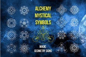 Magic geometry signs.